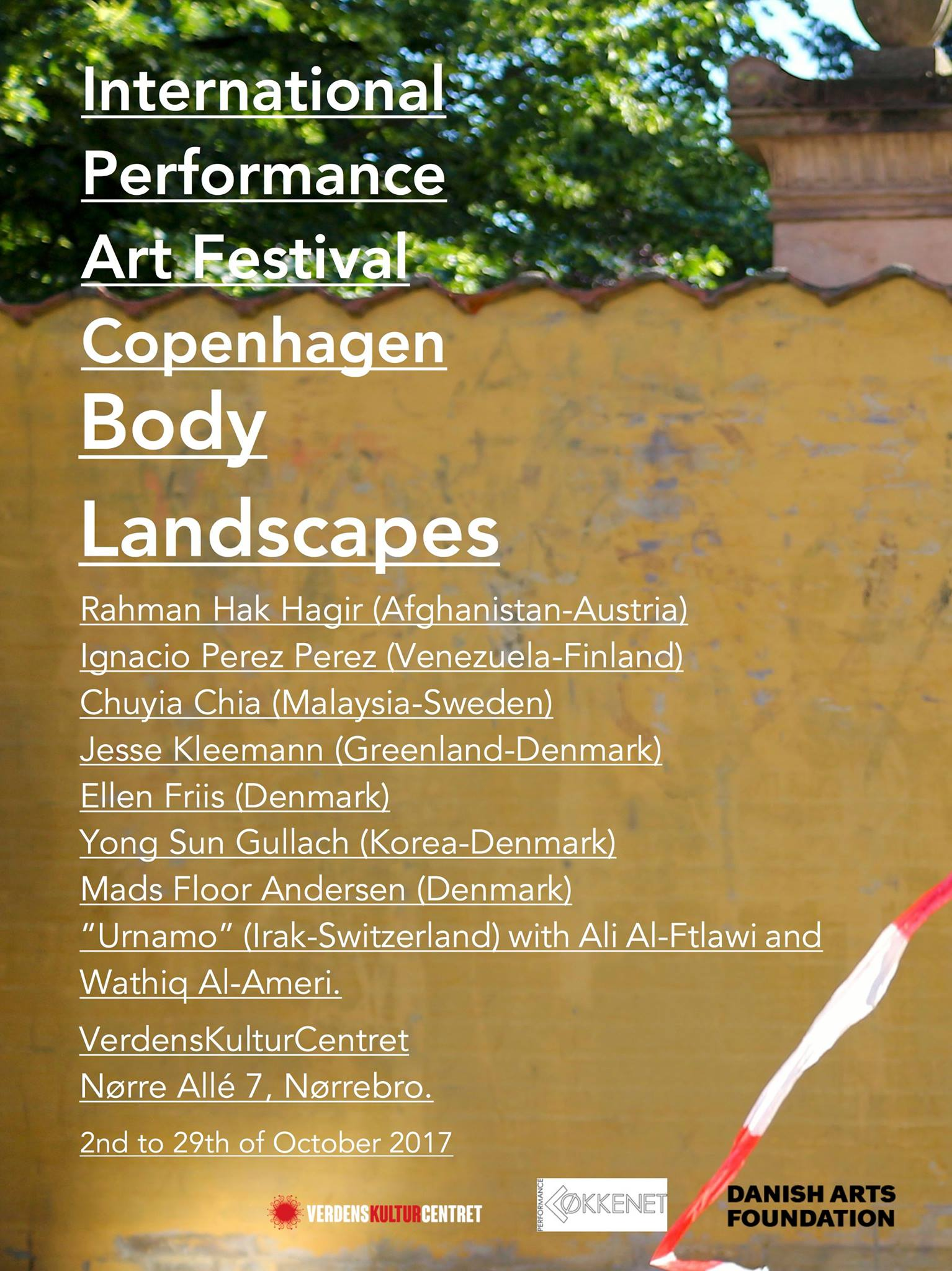 Poster ALL International Performance Art Copenhagen
