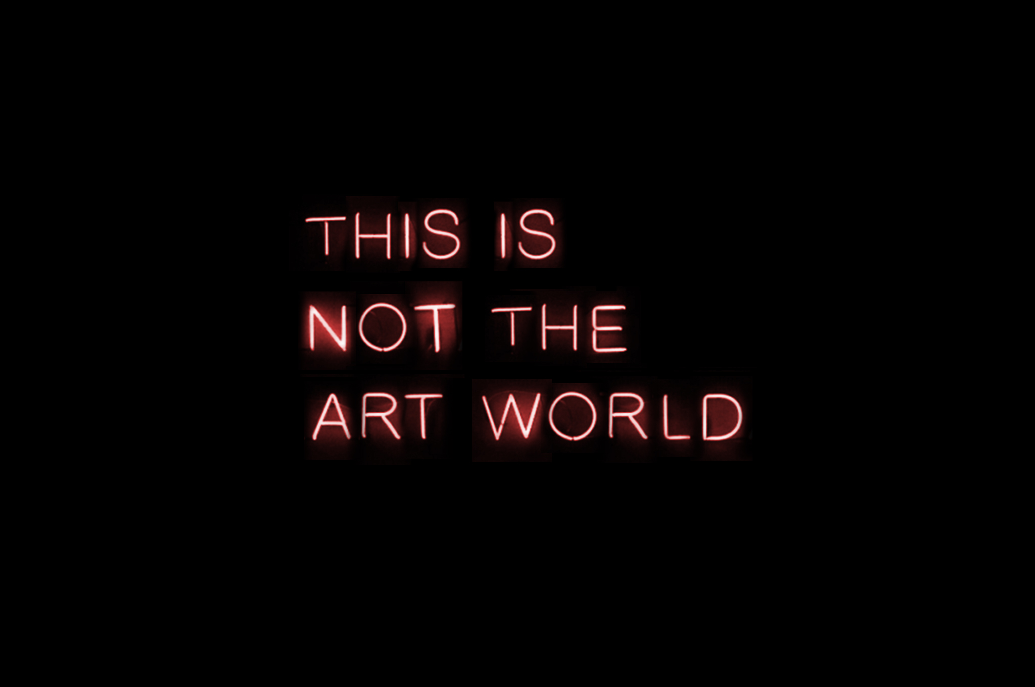 Rahman Hak-Hagir, Christina Berger - THIS IS NOT THE ART WORLD (2014)
